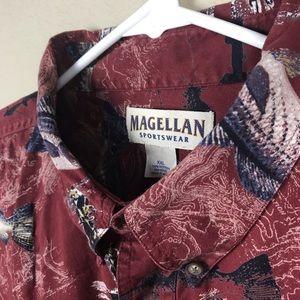 MAGELLAN Sportswear Fish Mens Shirt XXL